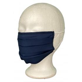Baumwoll-Gesichtsmaske navy